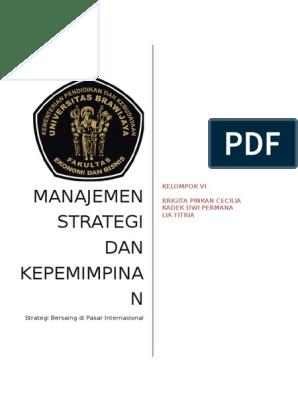 opsi strategi utama untuk bersaing di pasar negara-negara asing