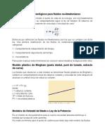 Modelos Para Fluidos No Newtonianos