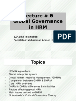 Lecture 6 Global Governance in HRM