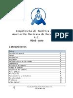 Bases Minisumo Asociacion Mexicana de Mecatronica