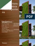 Arquitectura bioclimática contemporánea