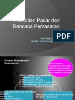 Penelitian Pasar Dan Rencana Pemasaran