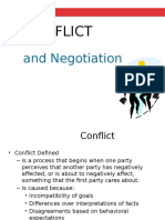 Unit 3 3 1 - Organizational Behavior - Lecture - Conflict and Negotiations - Prof B Lusk