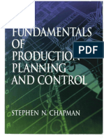 Fundamentals of production Control and planning