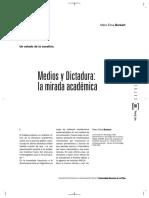 Medios y Dictadura Una Mirada Academica Burkart