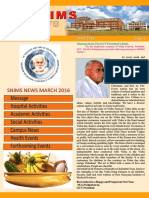 Snims Newsletter Vol 4_Issue 4 April 2016