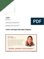 Cómo Entrega Felicidad Zappos