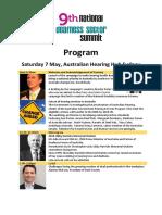 2016 National Deafness Sector Summit - Public Program
