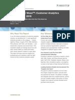 Forrester Wave Customer Analytics 108167