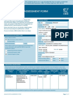Qualification Assessment Form