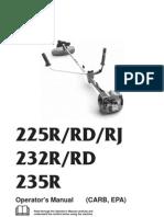 Husqvarna 225RJ Trimmer Manual