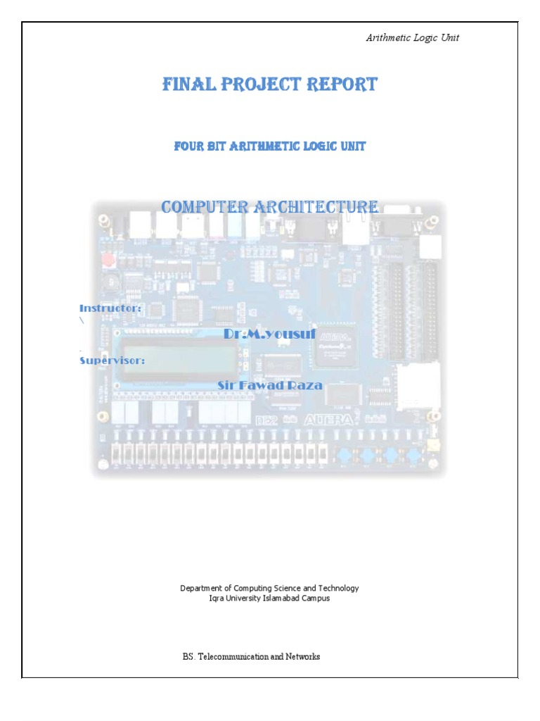 Alu By Mehboob Nazim Electrical Circuits Electronic Design Arithmetic Logic Unit Diagram