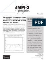 MMPI-2 Validity and Clinical Scales Profile