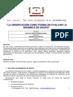 Instrumentos de Observacion Grupal