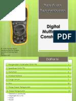 Petunjuk Penggunaan Multimeter Constant 95i