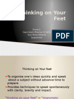 Thinking on Your Feet
