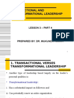 Lesson 3 - Transactional and Transformational Leadership - Part 5