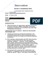 Intervention Government Freshwater Proposals, 21 April 2016