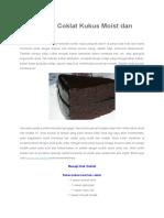 Resepi Kek Coklat Kukus Moist Dan Mudah