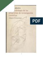 Lakatos, Imre - La Metodología de Los Programas de Investigación Científica