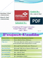 Medical Store Management System Karishma v.patel, Kiran D. Patel