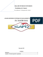 Analiza Sistemului Integrat de Management La Organizatia SC Safir SRL