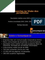 as assessorias na visao dos jornalistas 2006