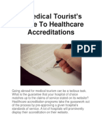 A Medical Tourist's Guide To Healthcare Accreditations