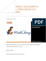 Mega Tutorial Mailchimp en Español