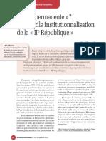 La Diificille Institutionnalisation de l'Italie