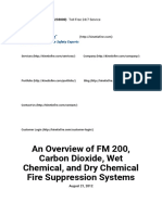 An Overview of FM 200, Carbon Dioxide, Wet Chemical, And Dry Chemical Fire Suppression Systems