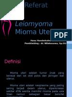 Leiomyoma Mioma Uteri Hana