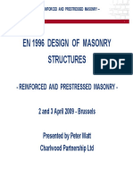 Reinforced and Prestressed Masonry