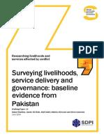 Surveying Livelihoods Service Delivery and Governance - Baseline Evidence From Pakistan