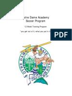 Notre Dame Academy Pre Season Workout