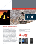 Scorpion h2 Handheld Computer Datasheet