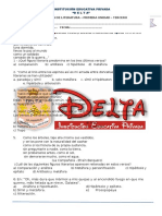Examen Avance Lit -3secundaria