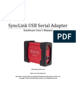 SyncLink USB Serial Adapter User's Manual