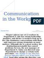1. Communication in the Workplace