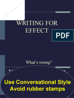 4. Writing for Effect