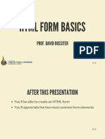 HTML Form Basics