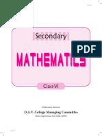 Secondary Maths 6