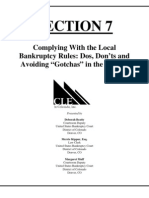 Complying With District of Colorado Bankruptcy Rules
