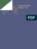 Lee H Horsley Azeotropic Data-III