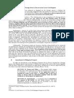 Registration of Foreign Divorce Decree