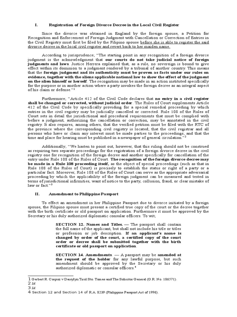Registration of foreign divorce decree judgment law decree aiddatafo Image collections