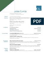 c lovin- resume