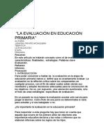 LA EVALUACIÓN EN EDUCACIÓN PRIMARIA.docx