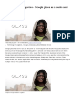 Technology in Logistics - Google Glass as a Audio and Display Device _ TuuBol