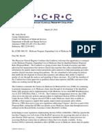 PCRC Response to CMS 5061-P